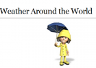 Webquest: Weather around the world | Recurso educativo 37939