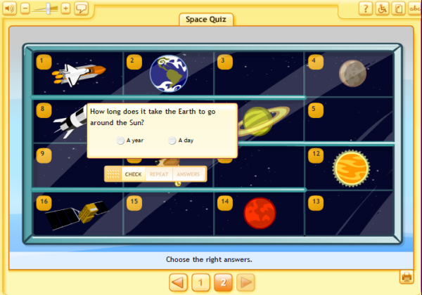 Space quiz | Recurso educativo 38478