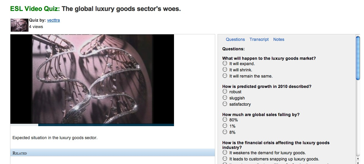 Video: The Global Luxury Goods Sector's Woes | Recurso educativo 39171