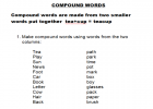 Compound words | Recurso educativo 40587