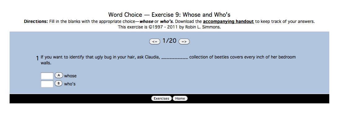 Word Choice: whose and who's | Recurso educativo 42493
