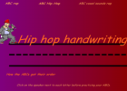 Alphabet hip hop handwriting | Recurso educativo 45102