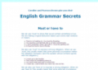 Grammar: Must and have to | Recurso educativo 58379