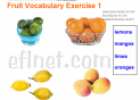 Fruit vocabulary | Recurso educativo 60646
