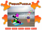 Puzzles: Minnie y Daisy en la playa | Recurso educativo 61060