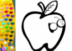 ¡A Colorear Frutas!: Manzana | Recurso educativo 28596