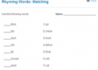 Rhyming words: Matching | Recurso educativo 68770