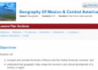 Geography of Mexico and Central America | Recurso educativo 68920