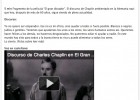 "Video: Discurso de Chaplin en ""El gran dictador"" 