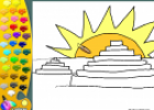 ¡A Colorear!: Templos Mayas | Recurso educativo 26879