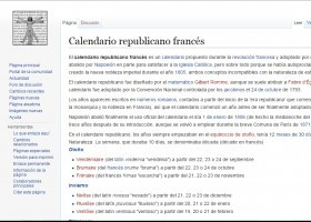 Calendario republicano francés | Recurso educativo 743784
