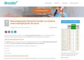 Descomposición factorial | Recurso educativo 774617
